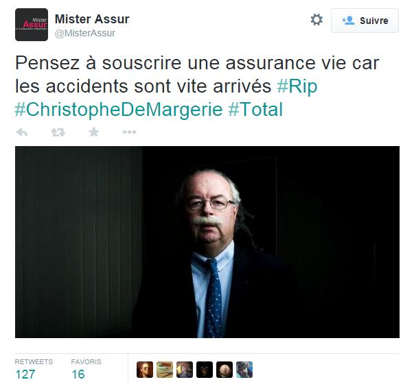 Le tweet indélicat de @MisterAssur