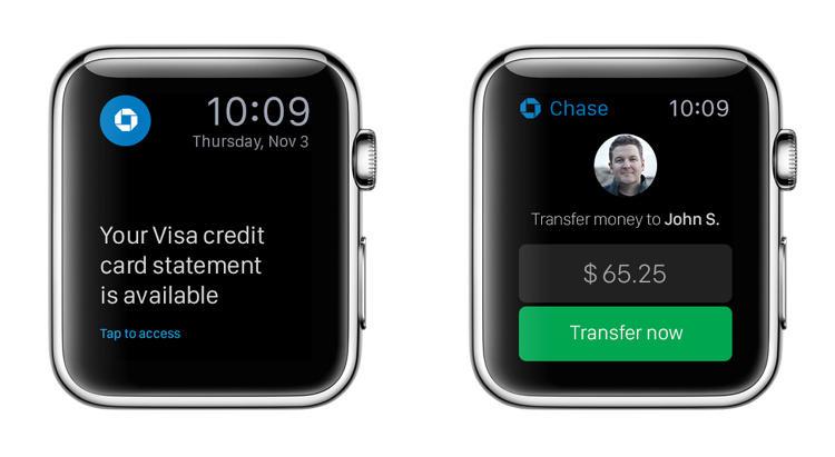 Concept d'application Apple Watch pour la banque ChaseSource