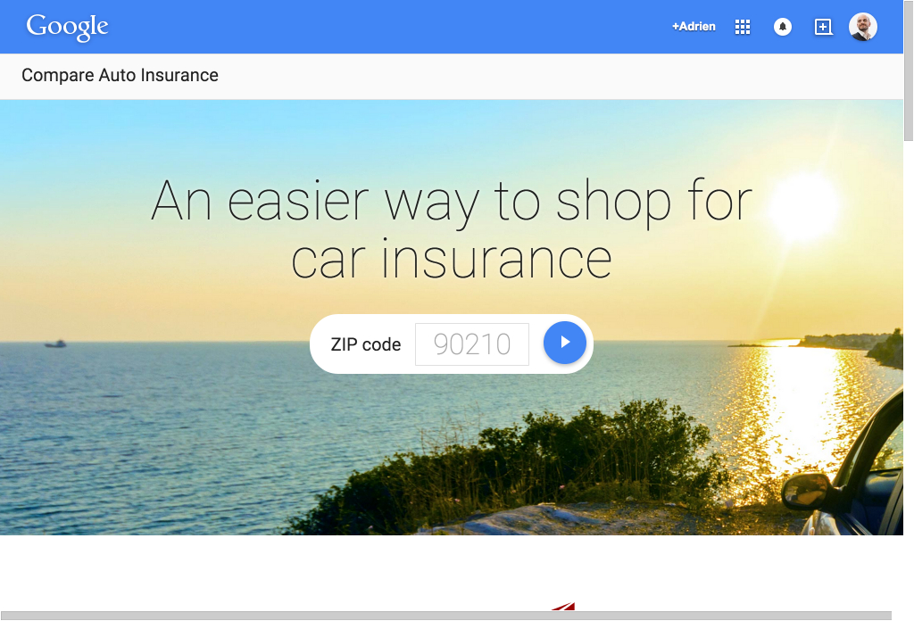 Capture Google Auto Insurrance Compare