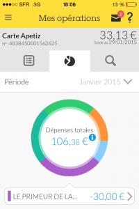 Aperçu de l'application mobile APETIZ