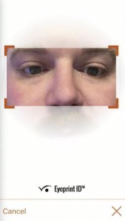 Solution EyePrint ID de EyeVerify
